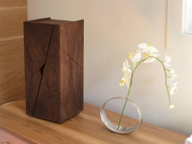 wood gift for her: a jewelry box made of wood