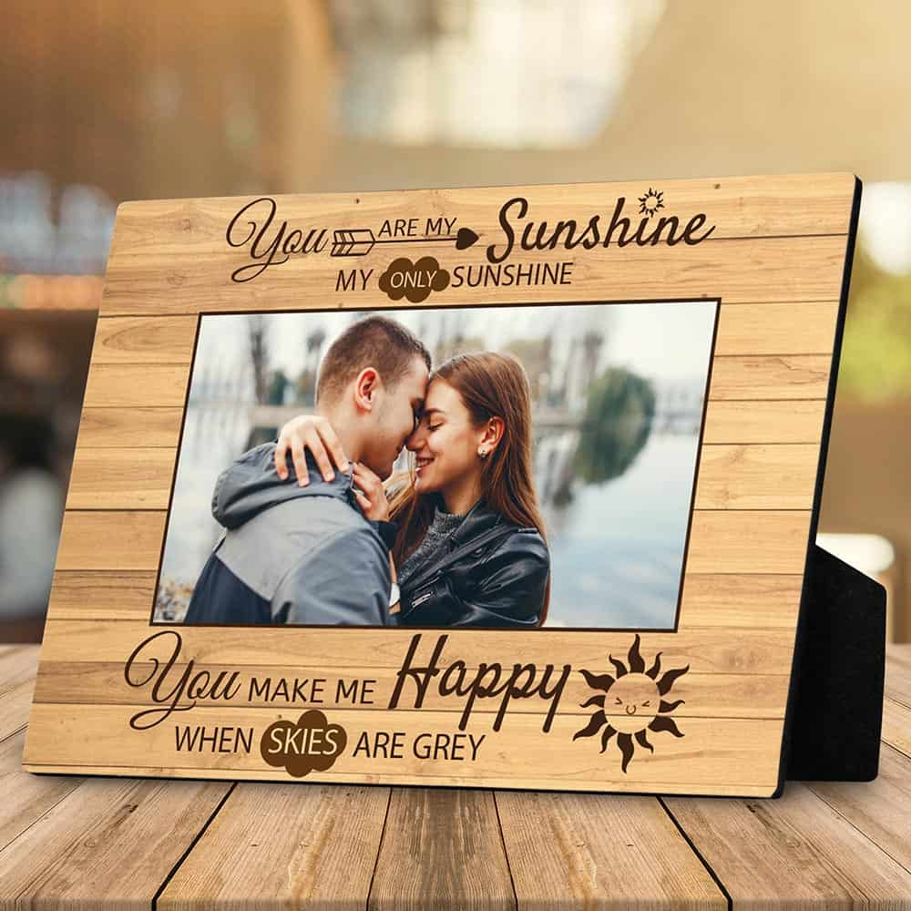 you are my sunshine custom photo desktop plaque - lovely gift idea for couples