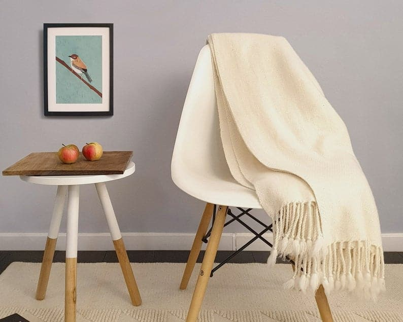 A soft & warm throw blanket made of merino wool - 7 year anniversary gift idea