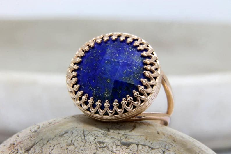 beautiful Lapis Lazuli womens ring