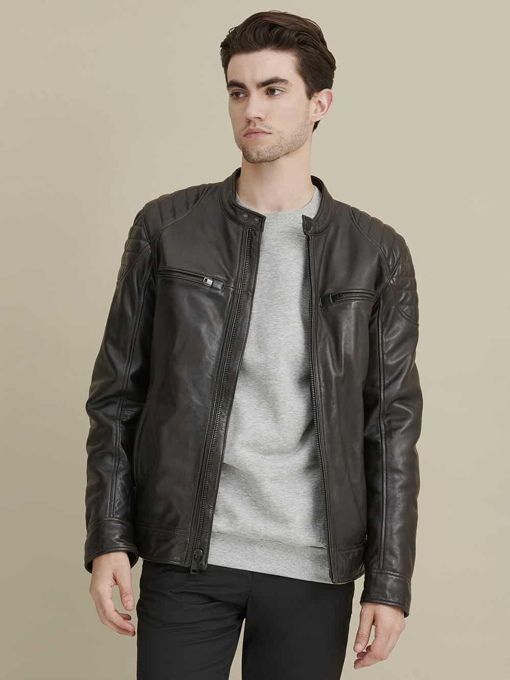 leather gift for him: leather jacket