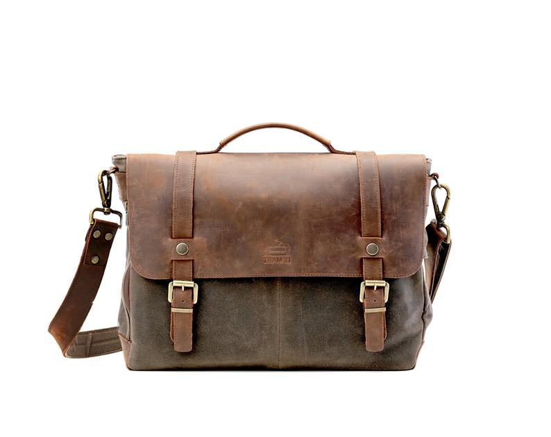 wax leather messsenger bag - 9 year anniversary gift idea for him