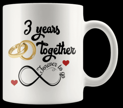 3rd wedding anniversary gifts for herAnniversary Mug