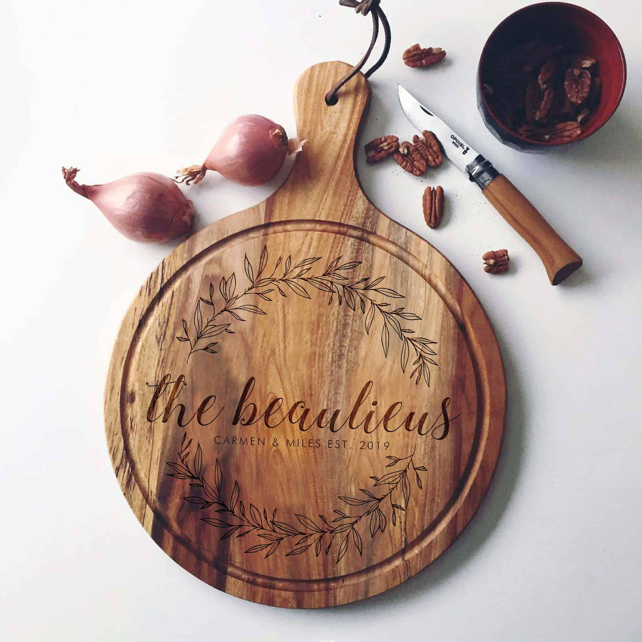 Custom Cutting Board with the Est Year