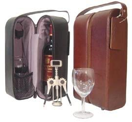 3rd wedding anniversary gift for him:Double Wine Case Holder