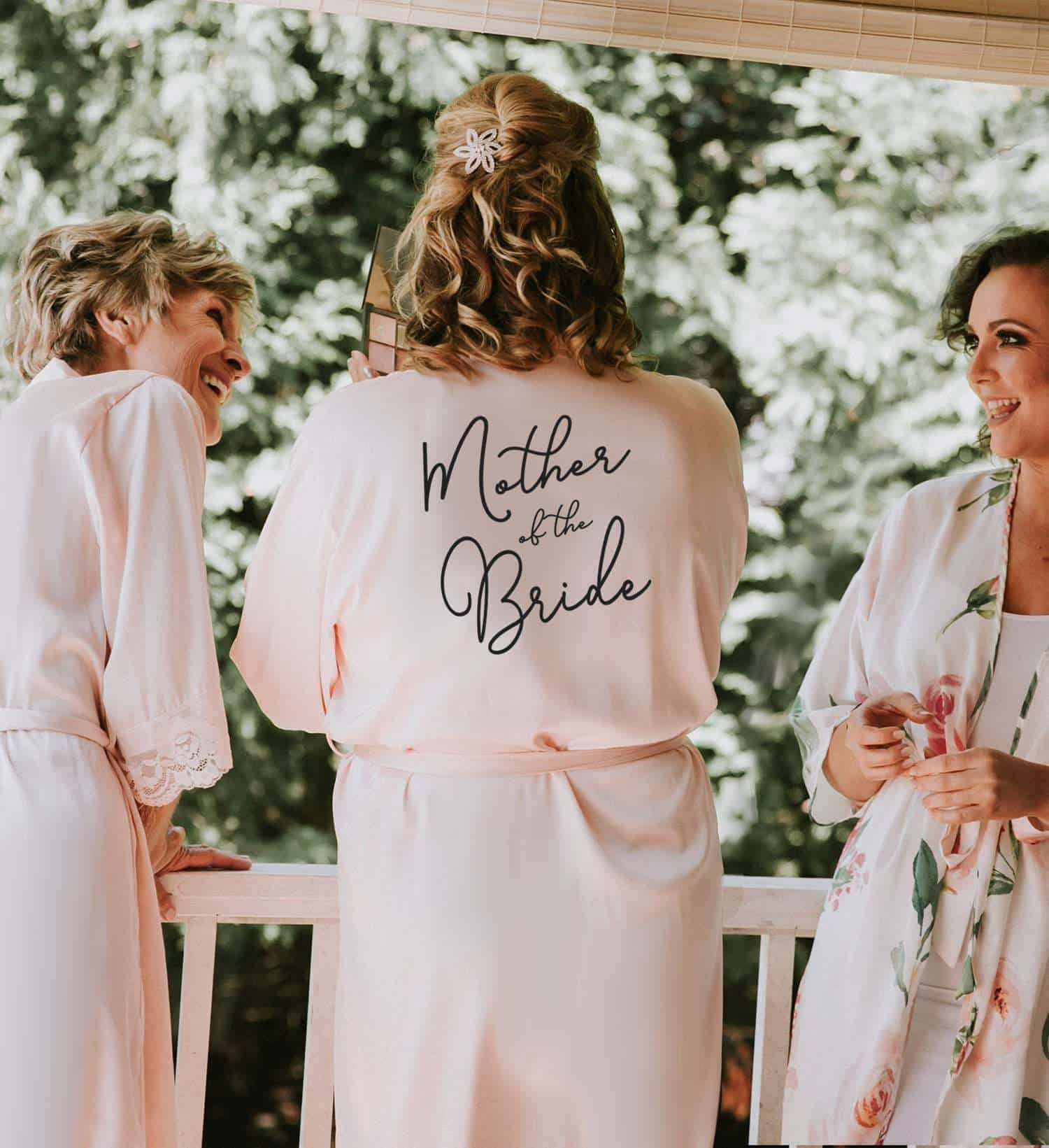 a woman wearing Mother Of The Bride robe