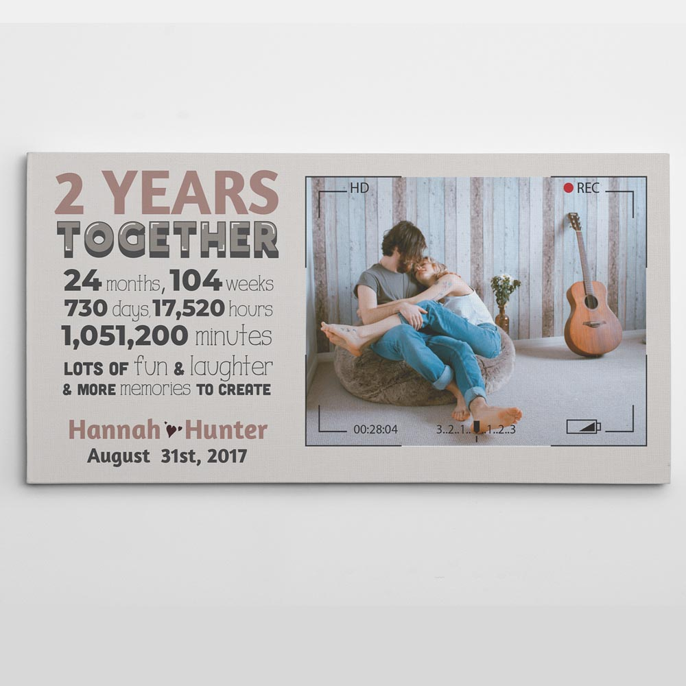 wedding gift idea for second marriage: Personalised Photo Canvas Gift