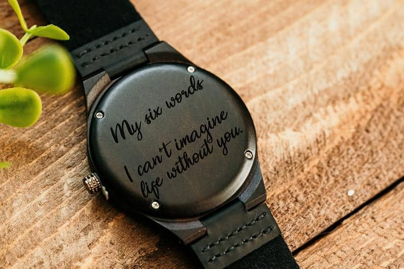 2 year anniversary ideas: Personalised Watch