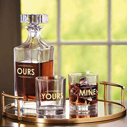 Whiskey Decanter Set Gift For Parents of The Bride and Groom On Wedding Day