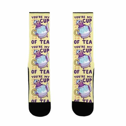 YOU'RE MY CUP OF TEA SOCKS - POLTEAGEIST SOCKS FOR HUSBAND