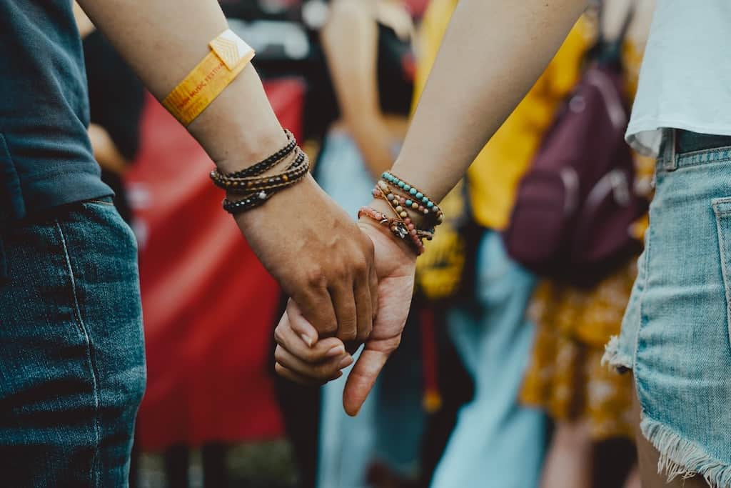a couple at a music festival
