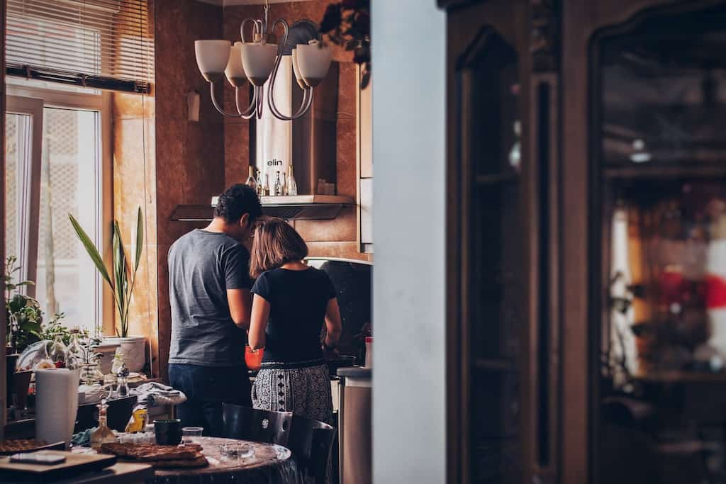 anniversary dating idea - cooking together