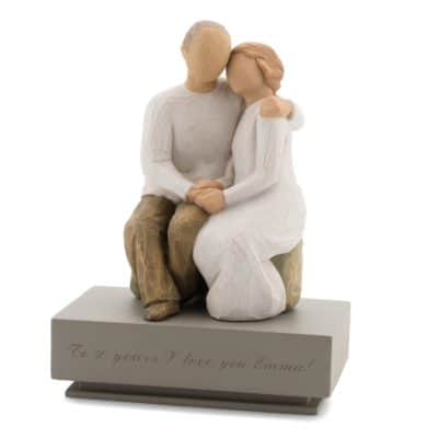 50th anniversary gifts for parents: anniversary figurine