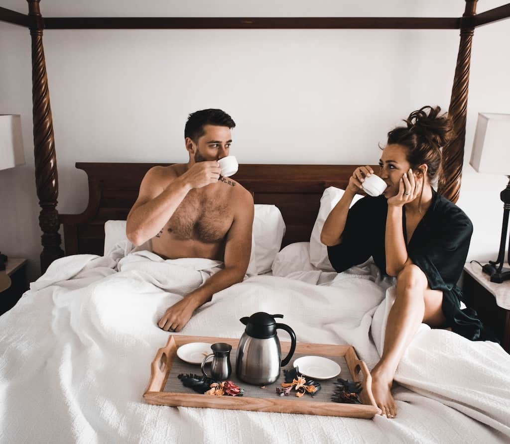 anniversary ideas - having breakfast in bed