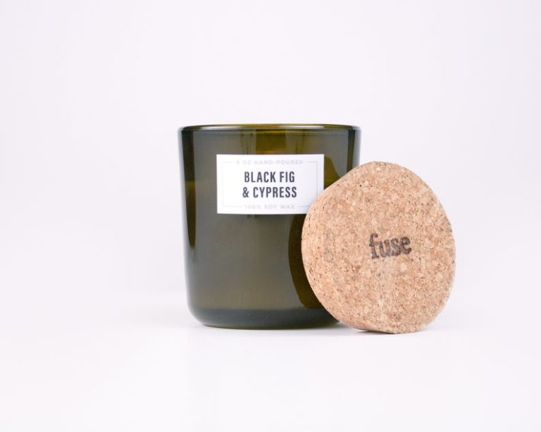 black fig & cypress scented candle