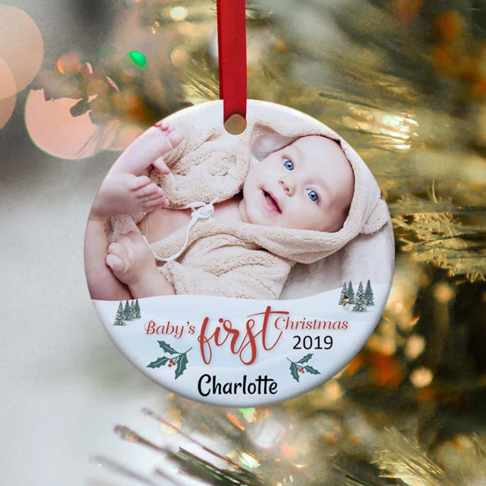 baby's first christmas ornament - unique christmas gift for couples who just had a newborn