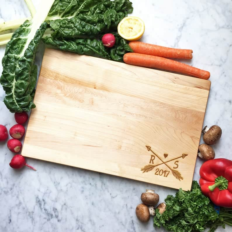 personalized cutting board - christmas, anniversary gift idea for couples