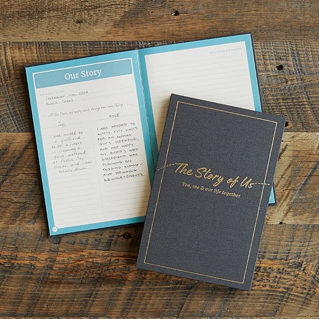 cool & meaning christmas gift for couples: the story of us journal