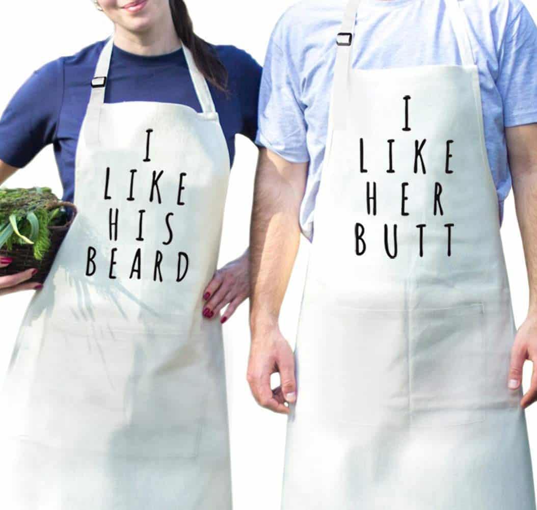 cotton couples apron for couple