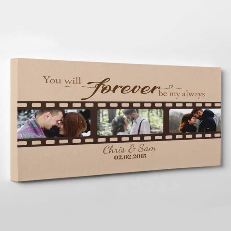 creative 6th anniversary gift ideas: custom photo canvas