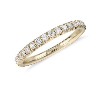 golden anniversary gift: diamond and gold ring