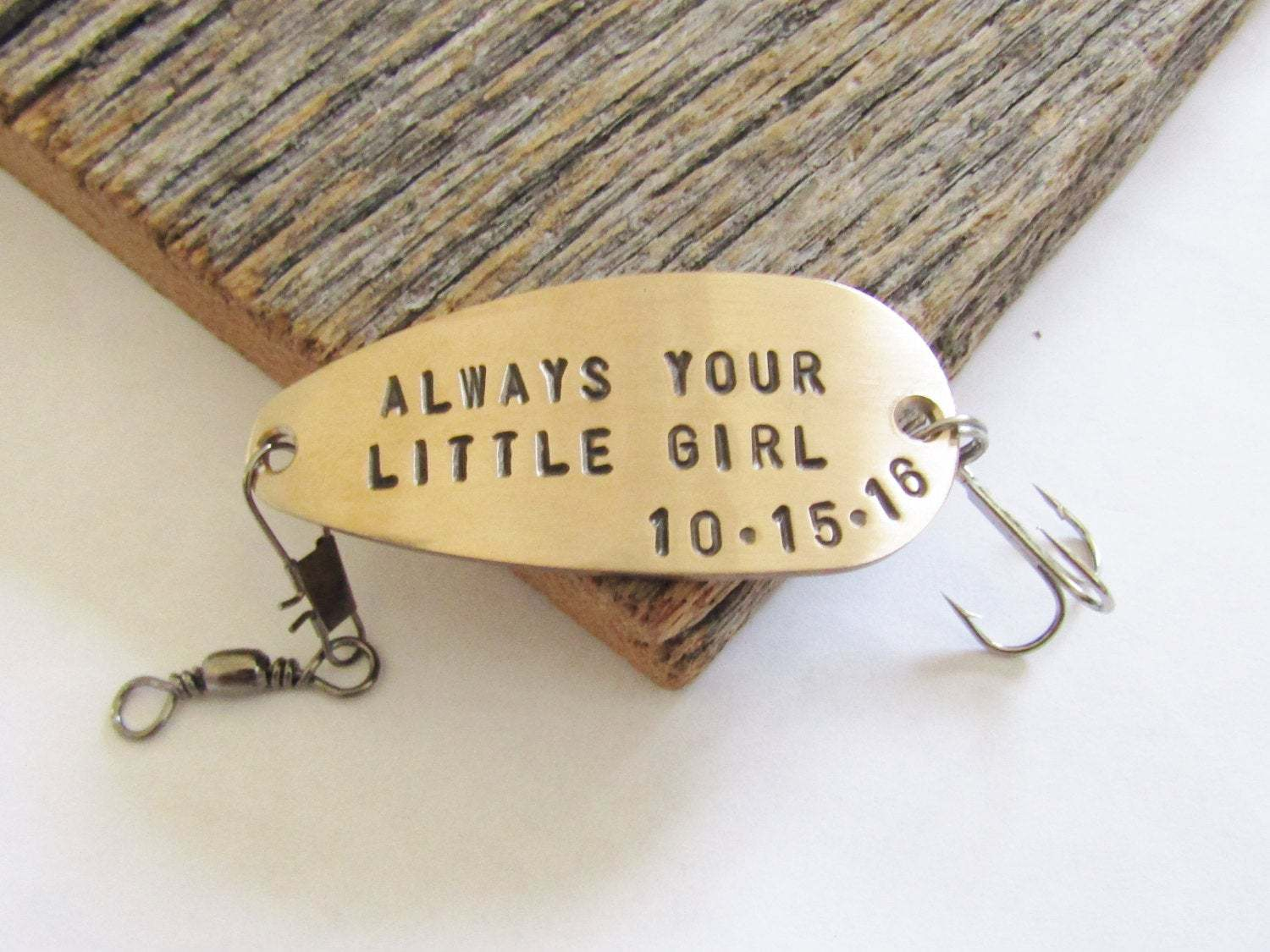 father of the bride and groom personalized fishing lure