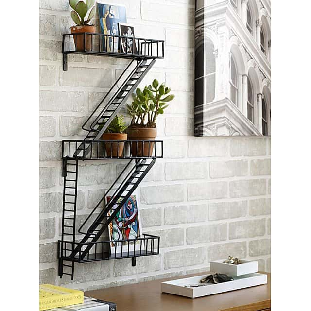 iron gift for couples: iron fire escape shelf