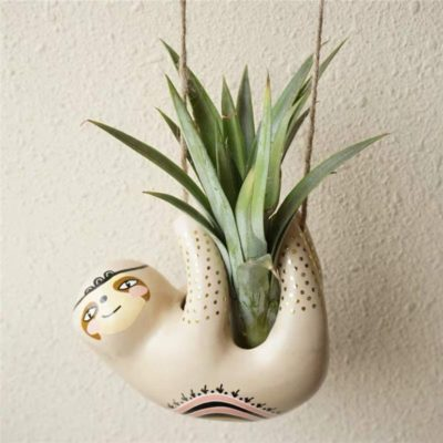 ceramic gifts for wife: hanging ceramic succulent planter