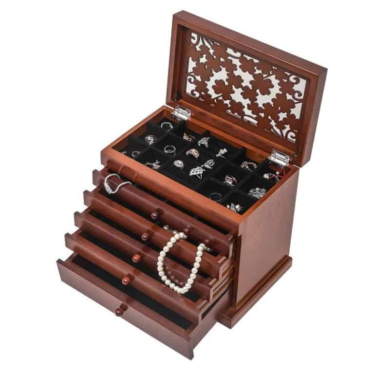 6 year wedding anniversary gift for wife: wooden jewelry box