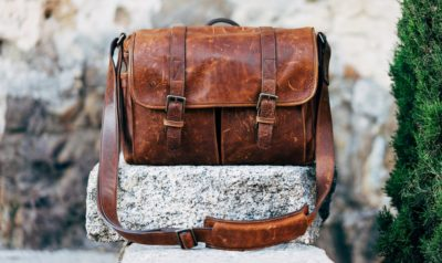 a leather bag anniversary gift