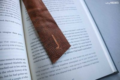 diy leather gift: leather bookmark