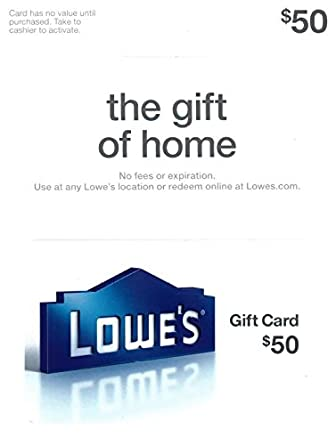 50th wedding anniversary ideas for parents: lowe's gift card