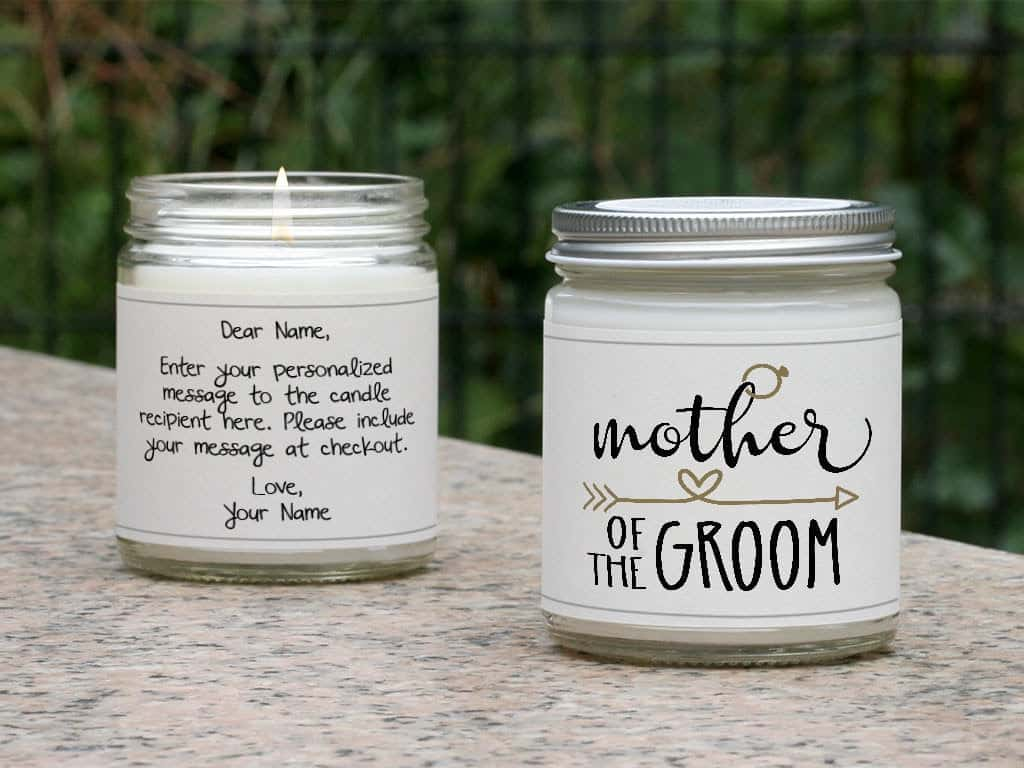 mother of the groom personalized candles