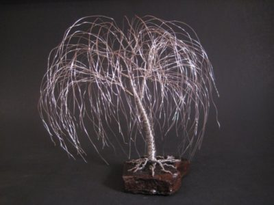 9 year anniversary gift ideas: weeping willow tree sculpture