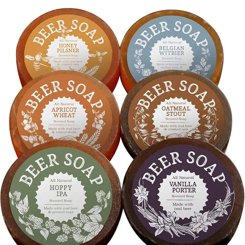 beer soap for male co-workers as a secret santa gift