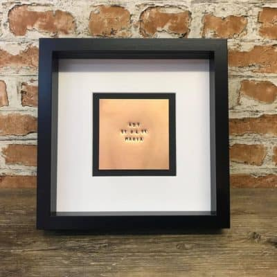 copper anniversary gift: copper embossed frame