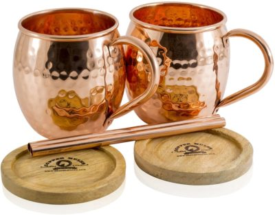 copper gifts for couples: moscow mule copper mugs