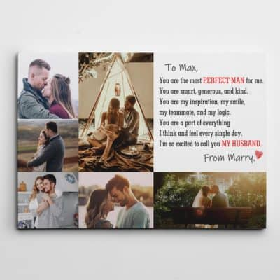 7 year wedding anniversary gift: custom photo canvas print