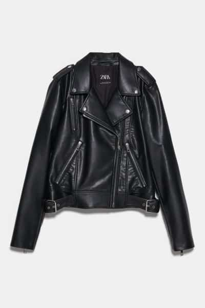 gifts for her: faux leather jacket