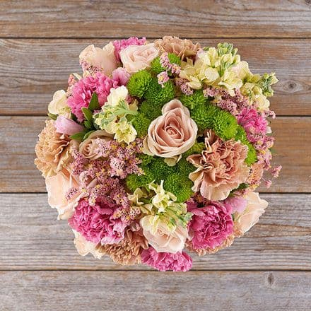 paper wedding anniversary - carnations bouquet