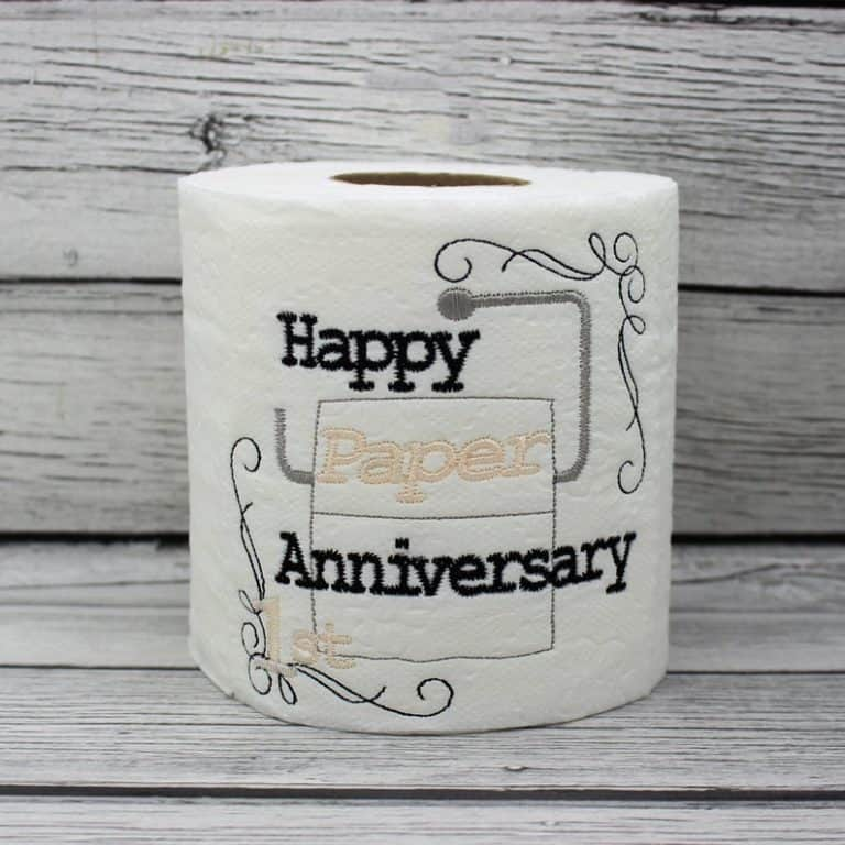 1 year marriage anniversary - toilet paper