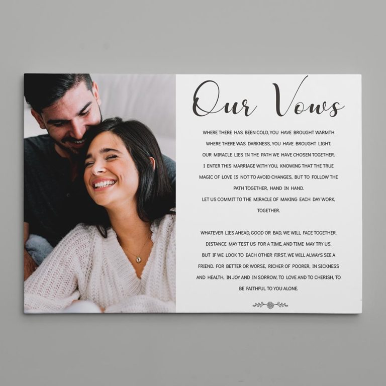 best anniversary gifts for him - wedding vows for him