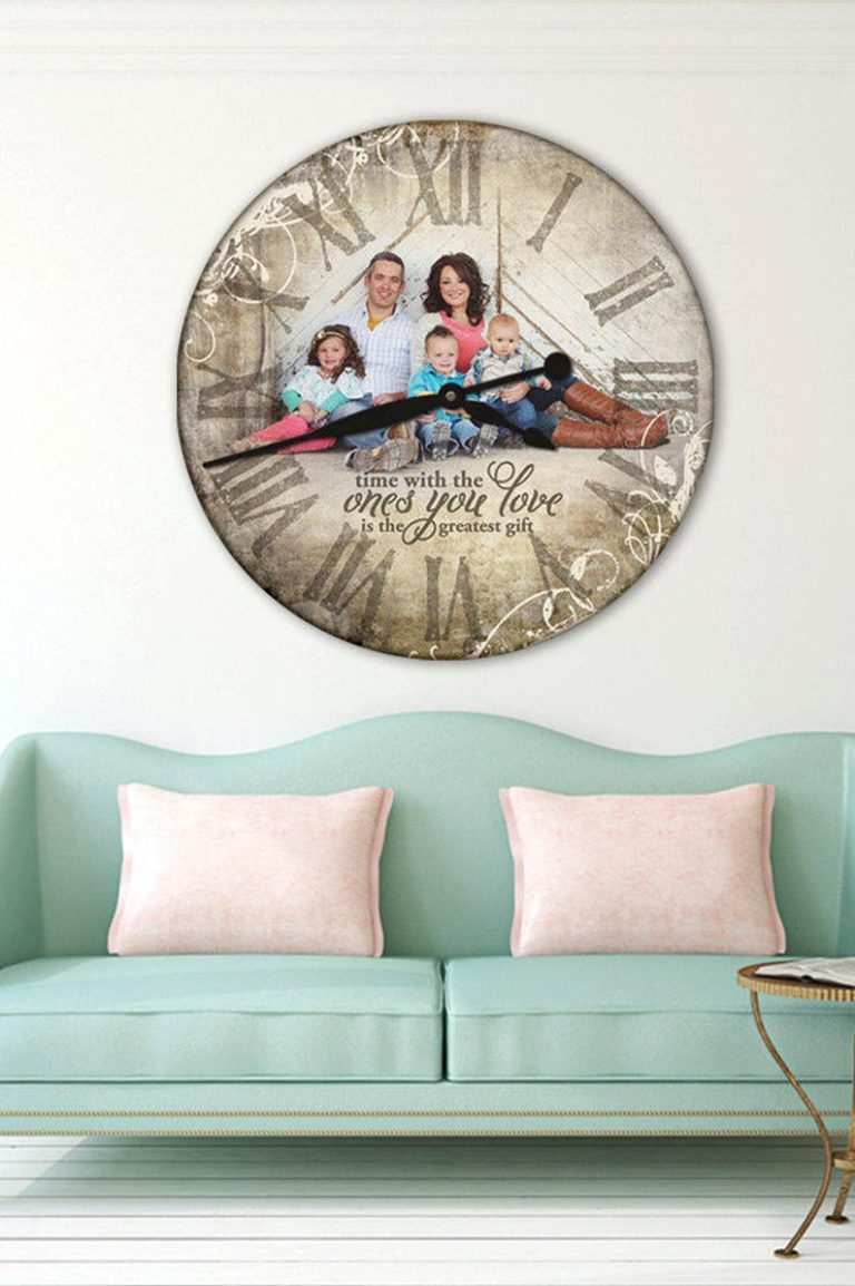 first anniversary gifts - custom photo wall clock