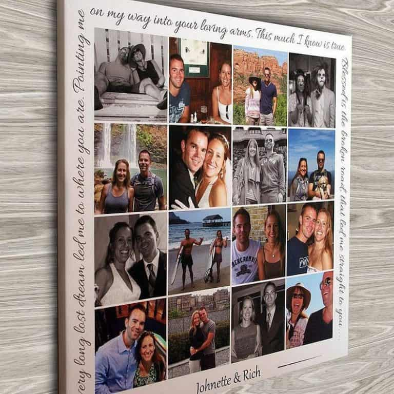 first anniversary gifts - personalized photo collage canvas