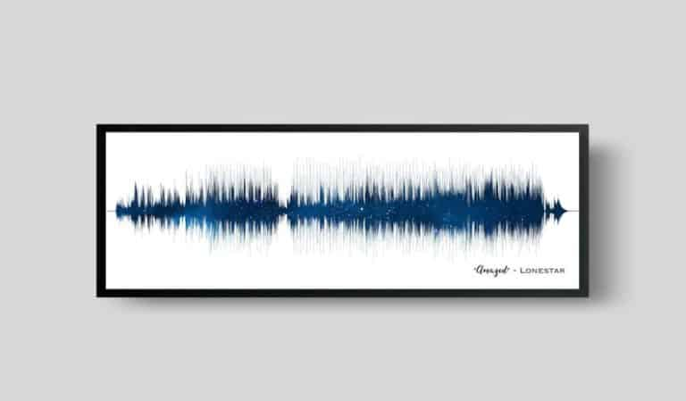 first anniversary gifts - soundwave art paper print