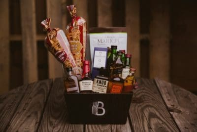 7 year wedding anniversary gift for him: gift basket