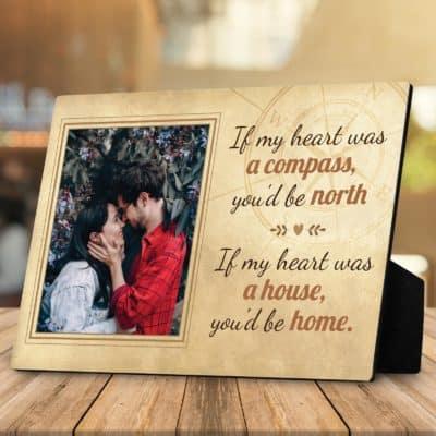 custom desktop plaque - valentines gifts for him