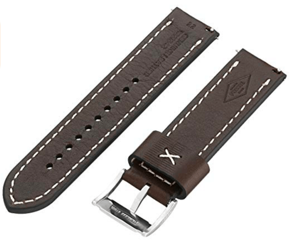 leather watch band for men's watch