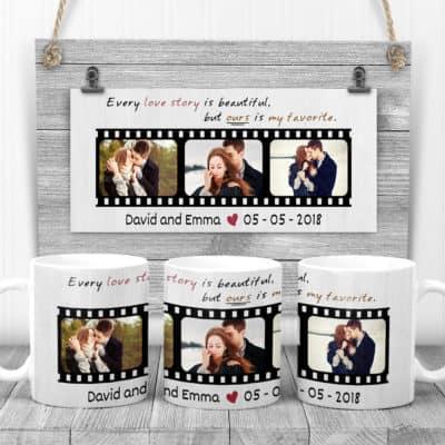 personalised valentine gifts for him - custom photo mug