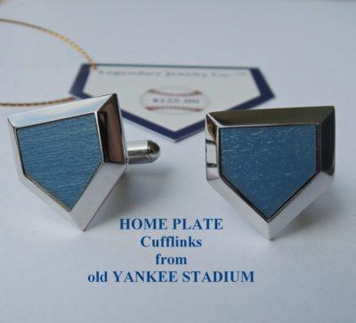 practical valentine's day gifts - Yankee Stadium home plate Cufflinks